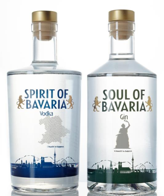 Vodka und Gin: SPIRIT & SOUL of Bavaria 2-fach gebrannt und von Hand abgefüllt in höchster Reinheit
