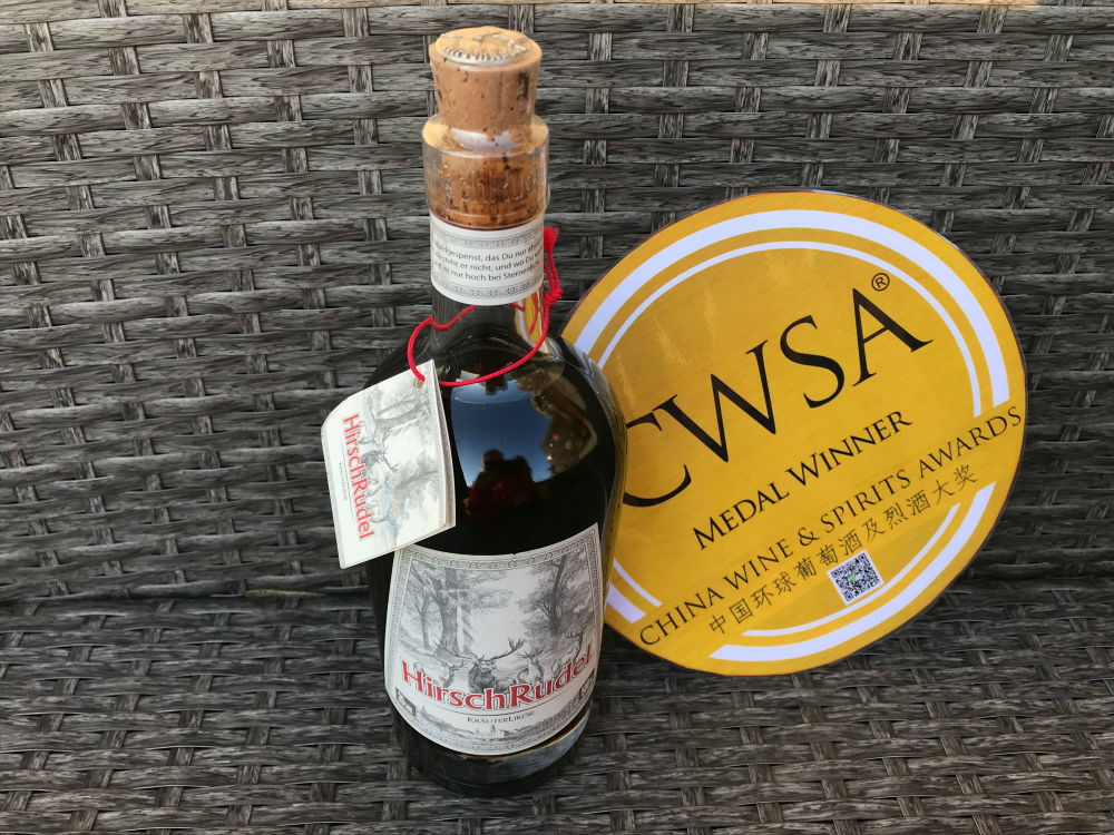 "HirschRudel gewinnt zum 3. Mal in Folge auf der China Wine and Spirits Awards (CWSA) die ""Best Value"" Gold-Medaille"