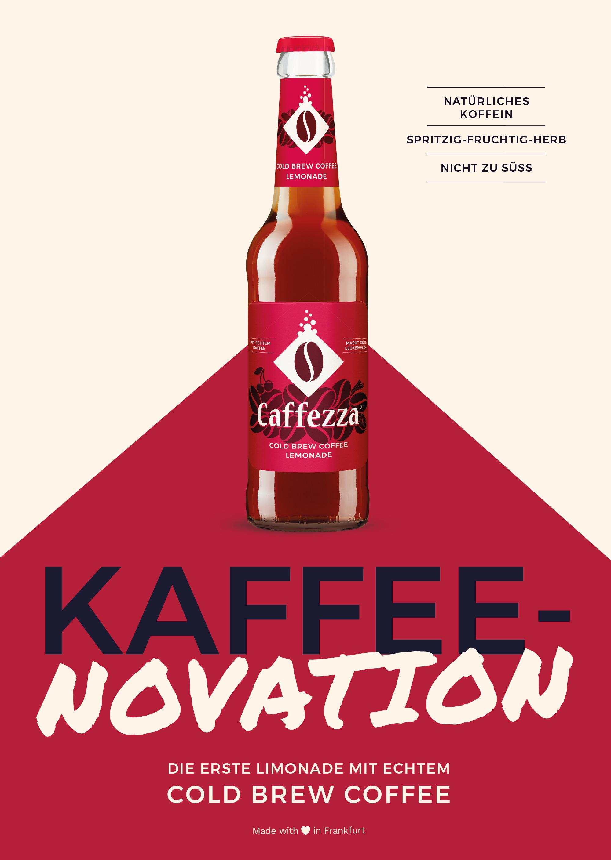 real ,- und REWE bieten Kaffee-Limo des regionalen Start-ups Caffezza an