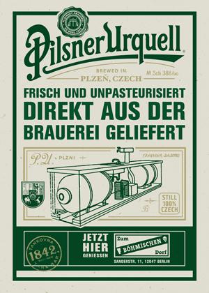 Pilsner Urquell - Tankbier Premiere