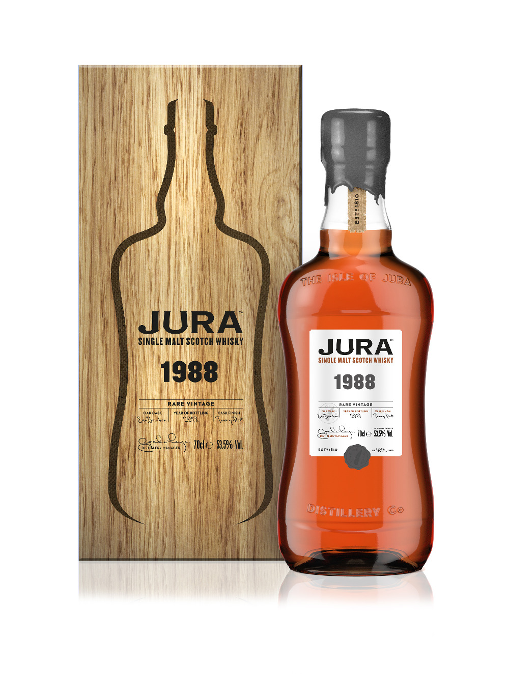 """JURA Whisky stellt die limitierte Abfüllung """"Rare Vintage 1988"""" vor"""