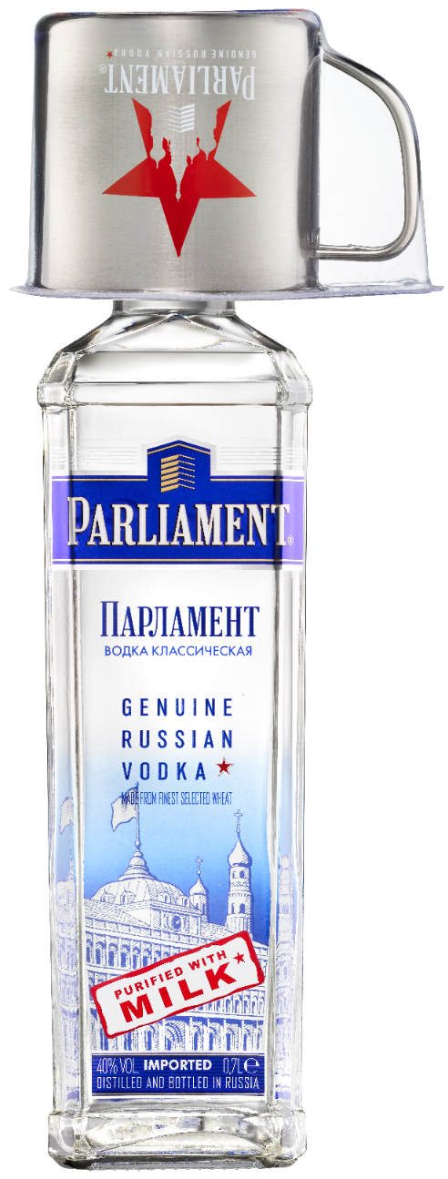 Parliament Vodka mit Mule-Becher