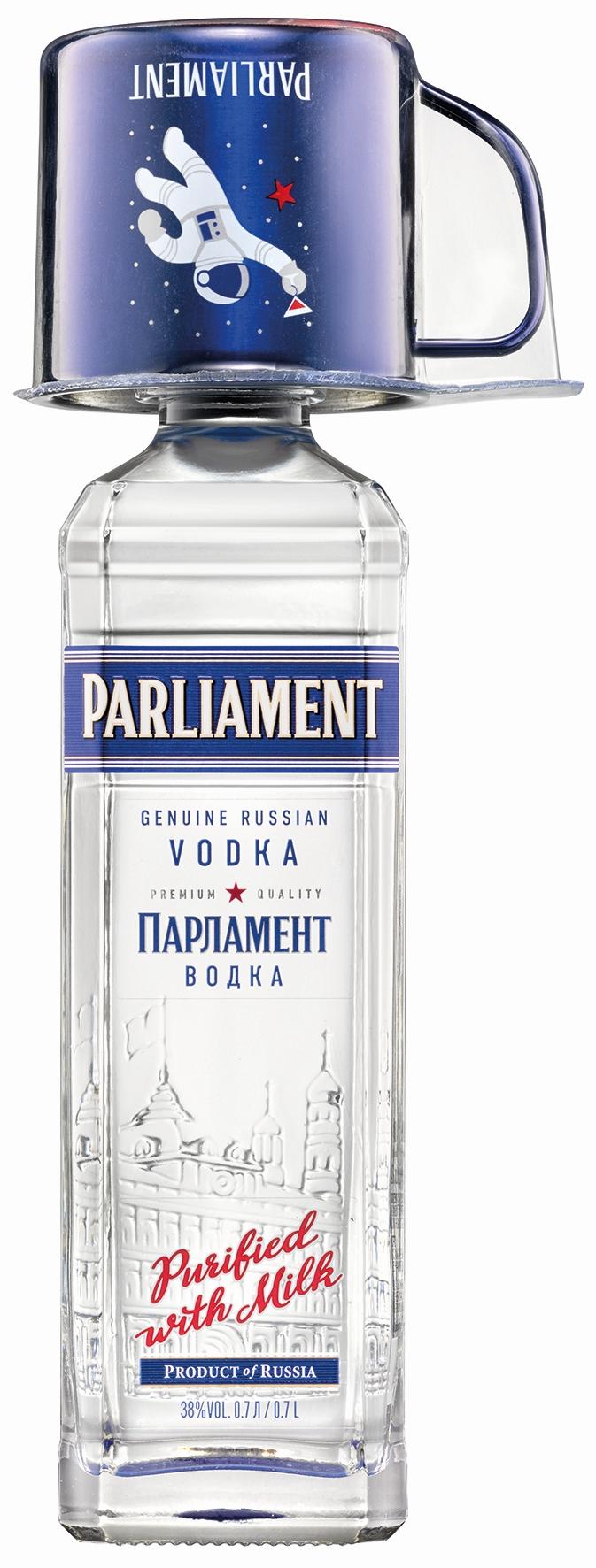 Parliament Vodka mit neuem Mule-Becher