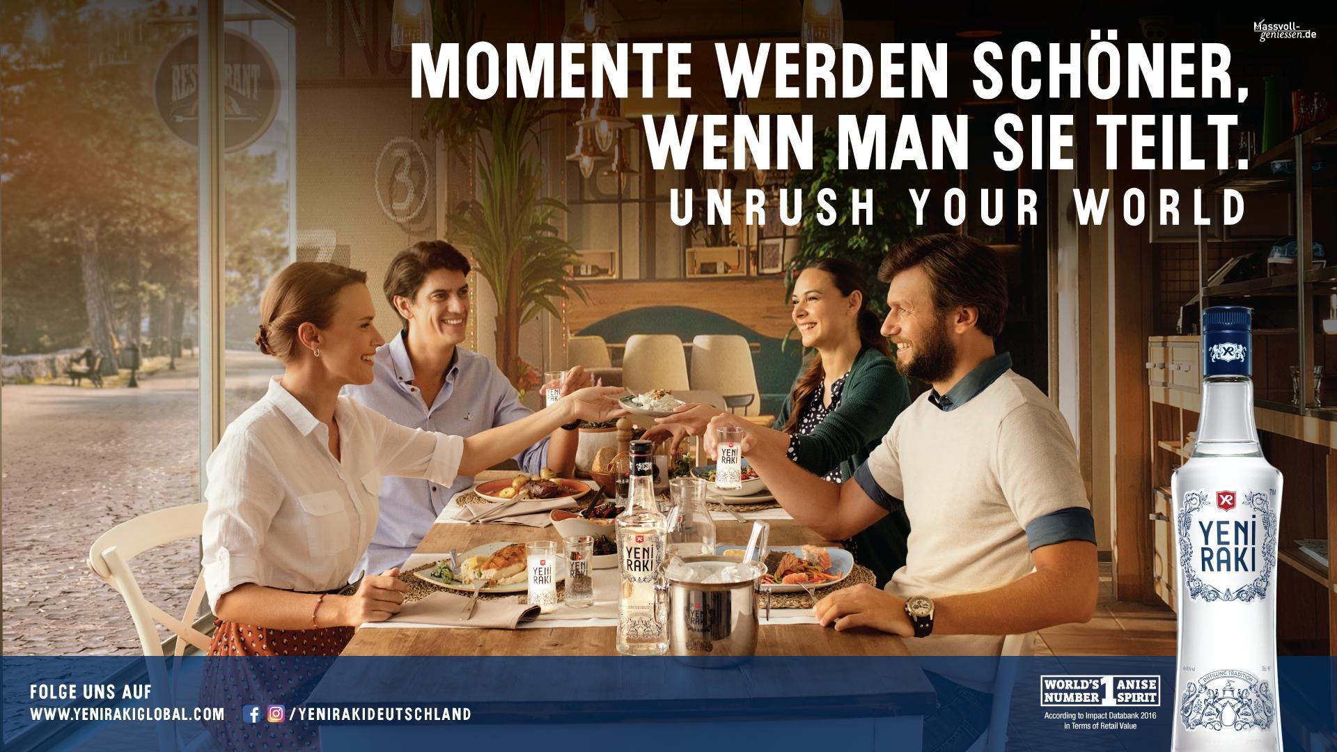 "Yeni Rakı setzt OOH-Kampagne mit neuem ""Unrush your World""-Motiv fort"
