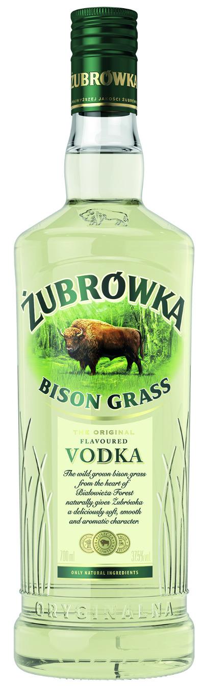 Żubrówka Bisongras Vodka präsentiert neues Design