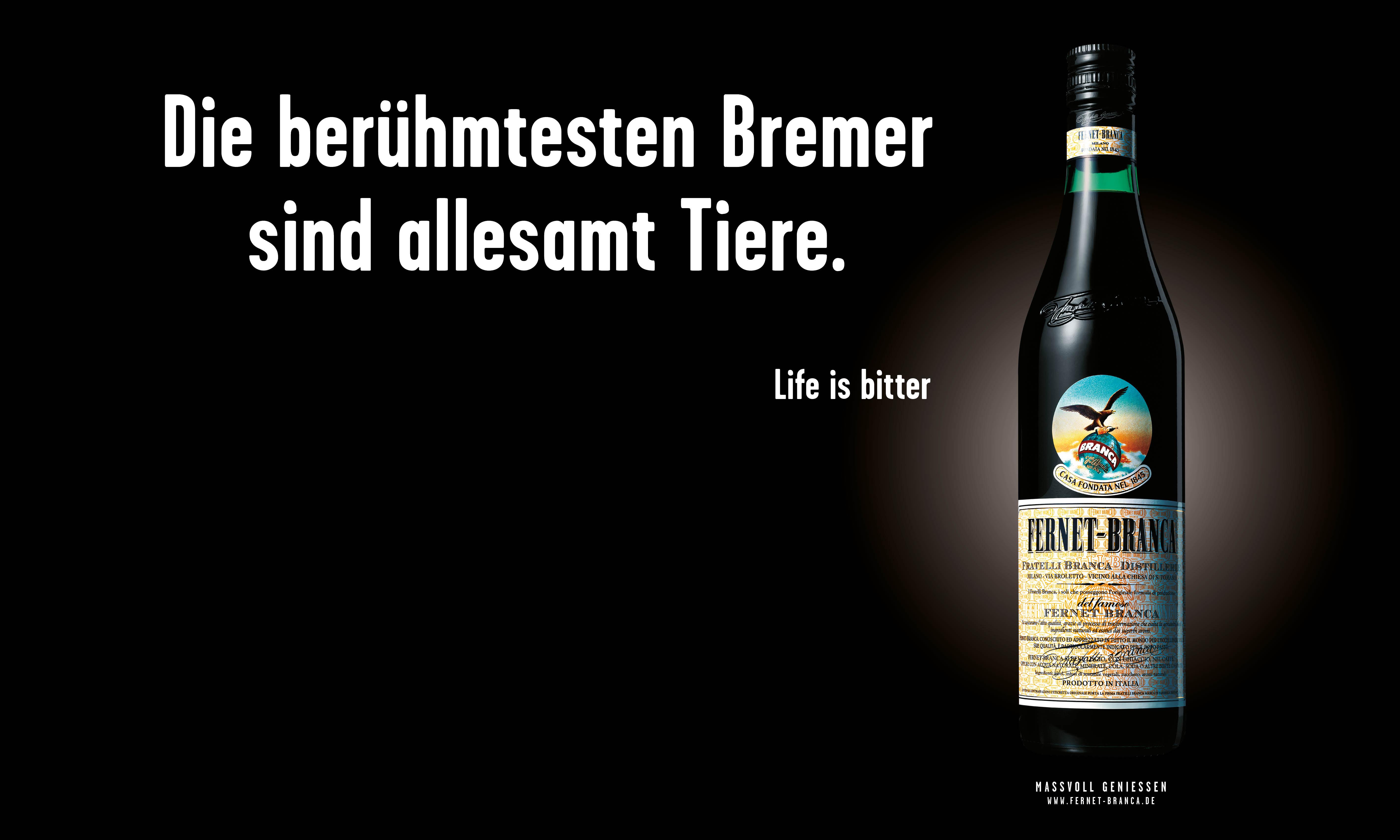 """Fernet-Branca """"Life is bitter""""-Kampagne geht in die nächste Runde"""