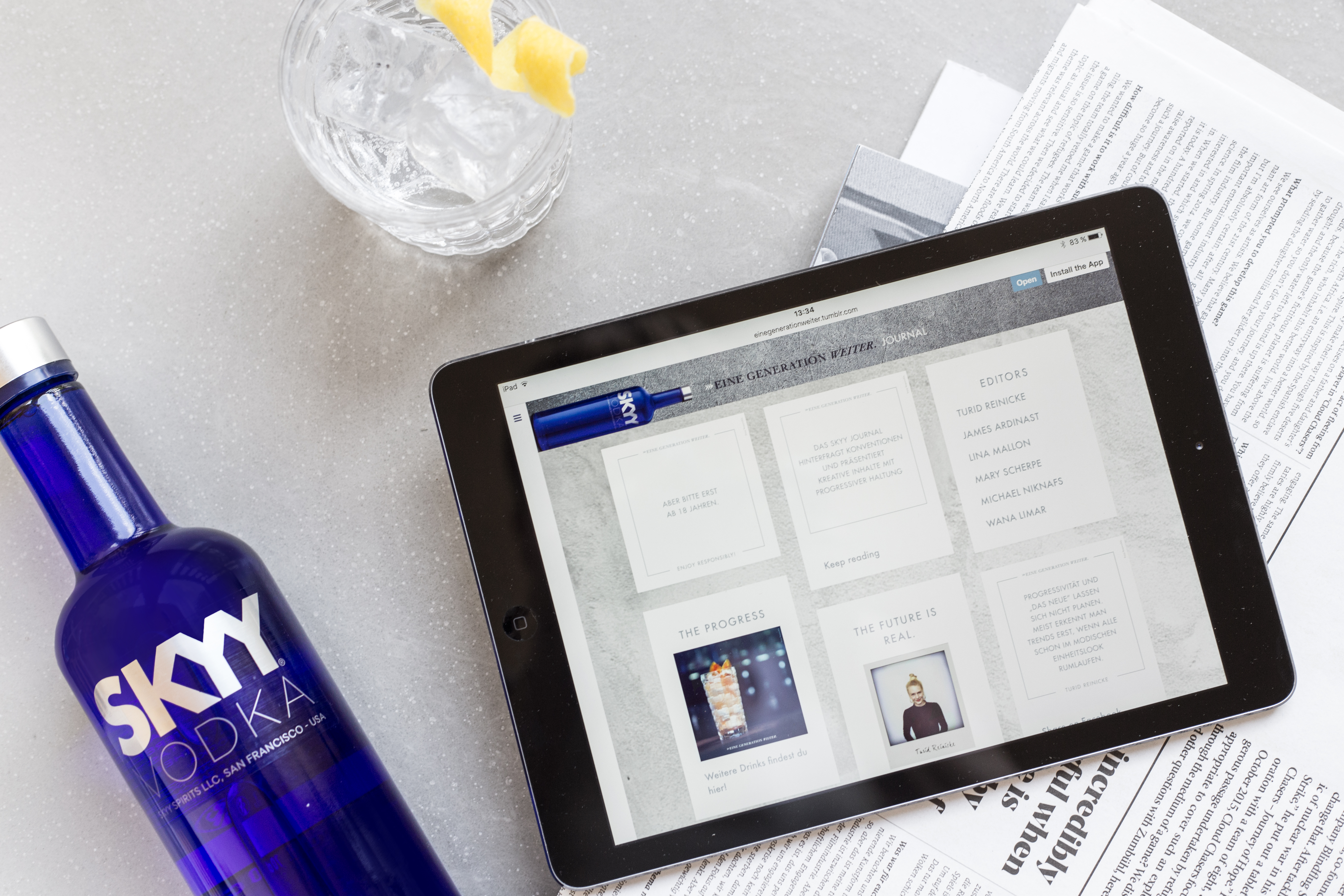 Der Premium-Vodka launcht eigenes Lifestyle-Journal
