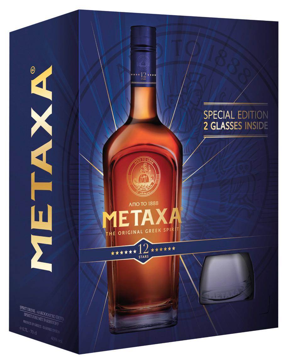 METAXA 12* Special Edition zur Saison mit 2 Gläsern gratis
