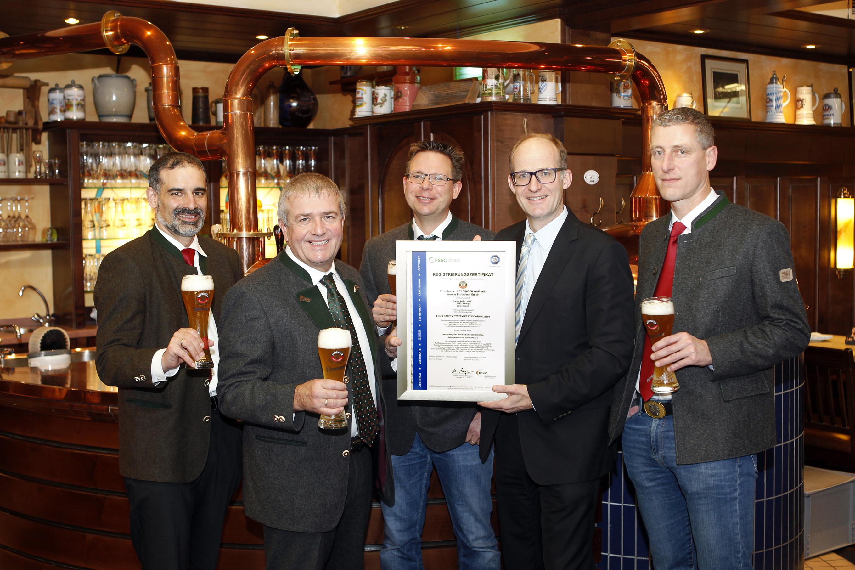 FSSC 22000 Zertifikat für Erdinger Weißbräu
