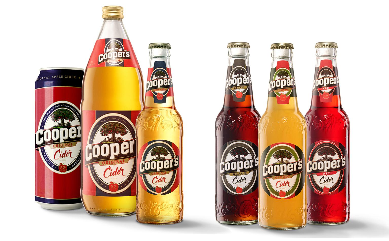 Cooper´s Cider mit neuem Design und neuen Sorten