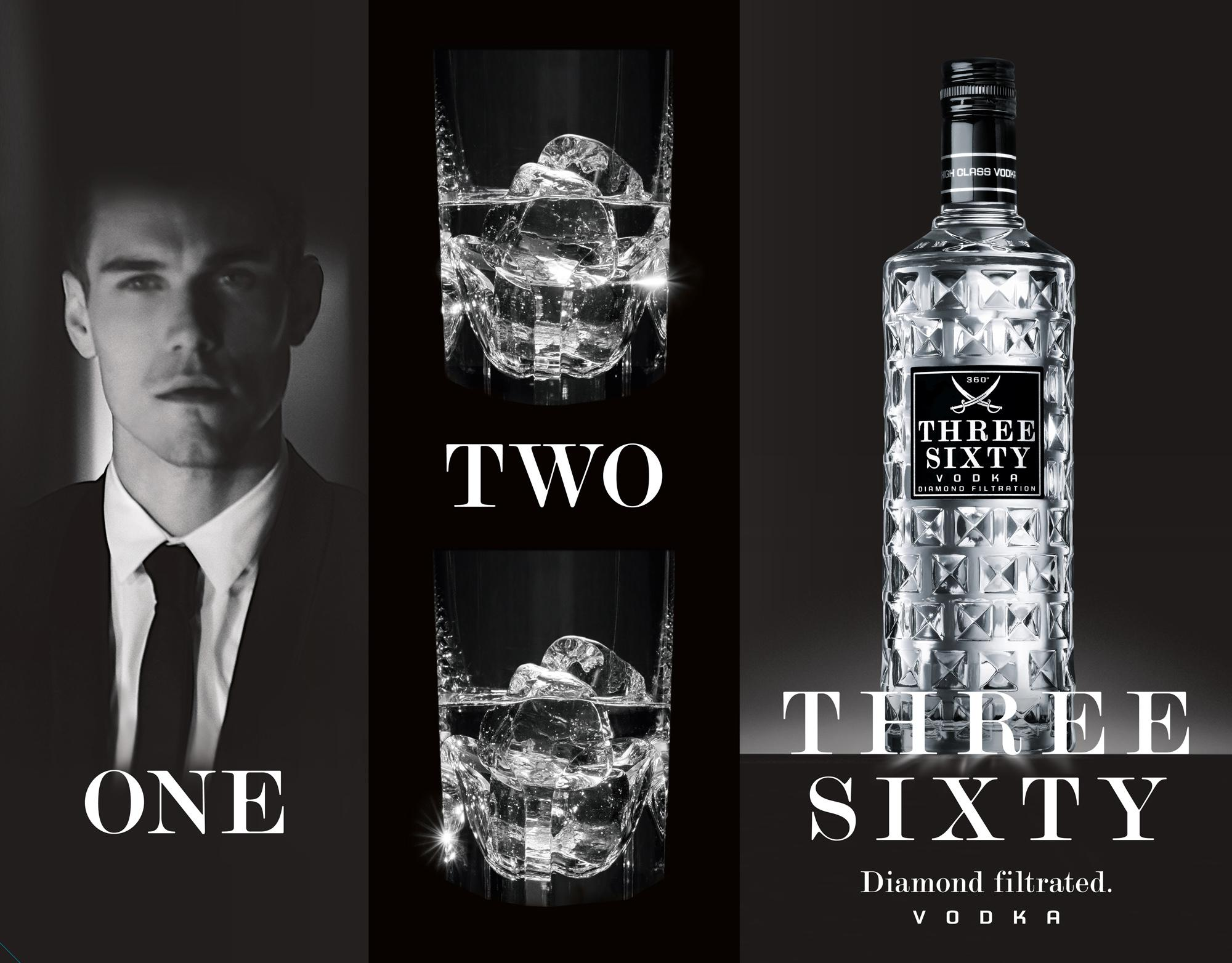 one two three sixty vodka neue kampagne und tv spot. Black Bedroom Furniture Sets. Home Design Ideas