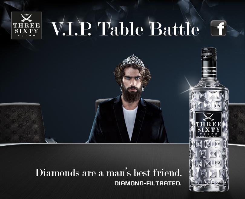 three sixty vodka macht facebook fans zum v i p im eigenen lieblingsclub. Black Bedroom Furniture Sets. Home Design Ideas