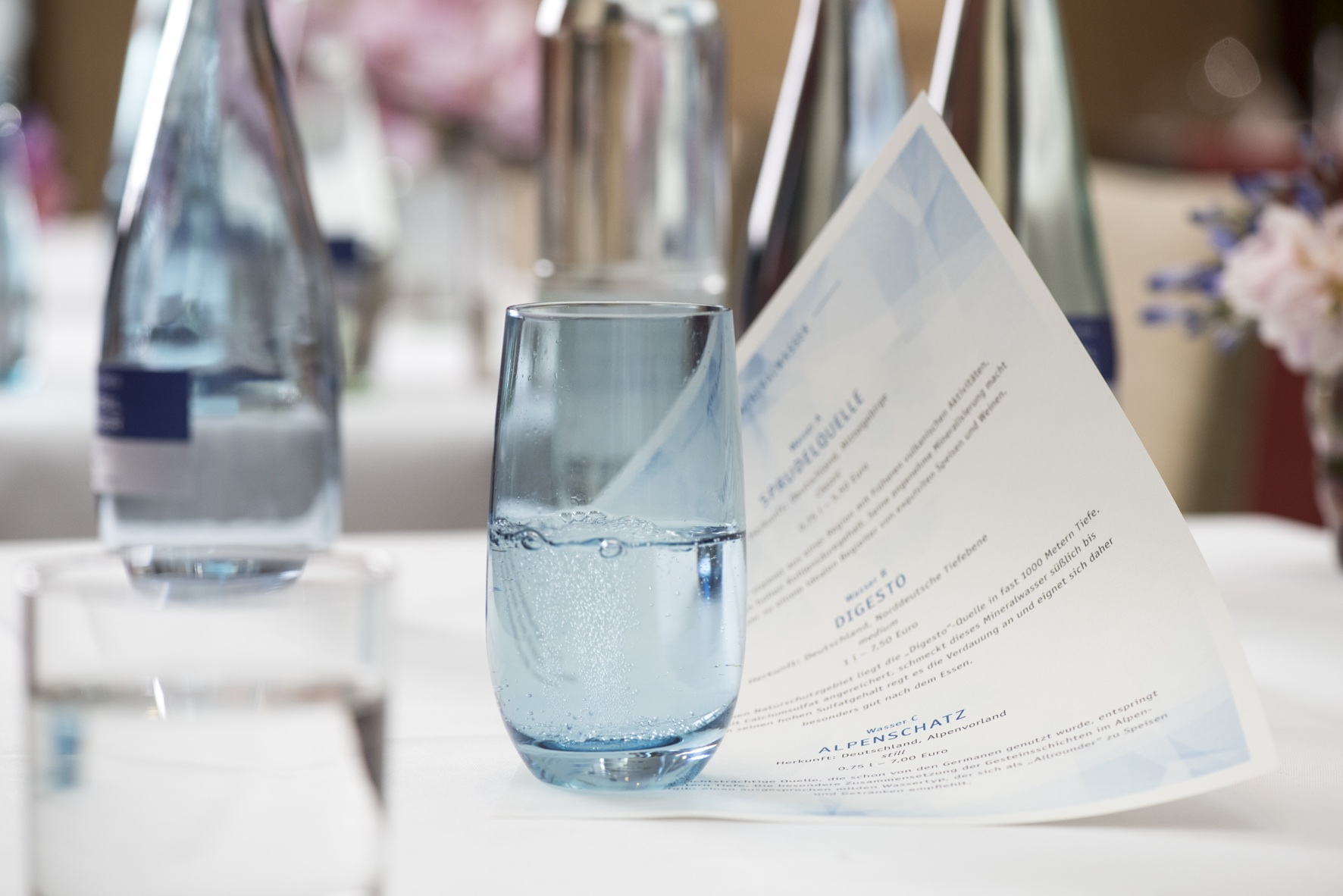 Welches Mineralwasser passt zu welchem Gericht?