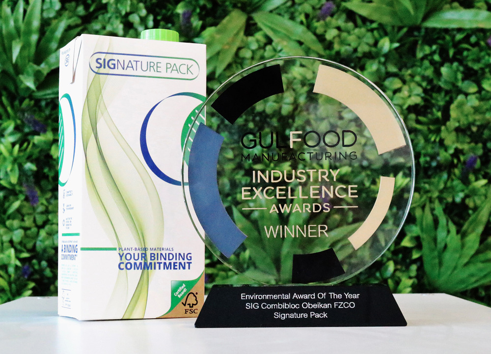 "SIGNATURE PACK von SIG erhält bei der Gulfood Manufacturing den ""Environmental Award of the Year"""