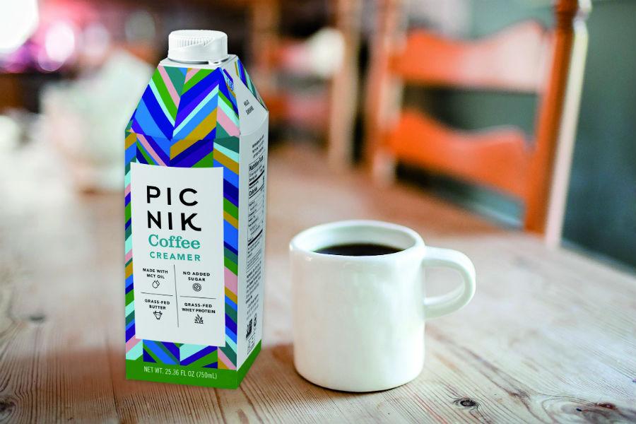 Picnik Butterkaffee-Sahne mit überzeugender Funktionalität in der Kartonflasche combidome von SIG