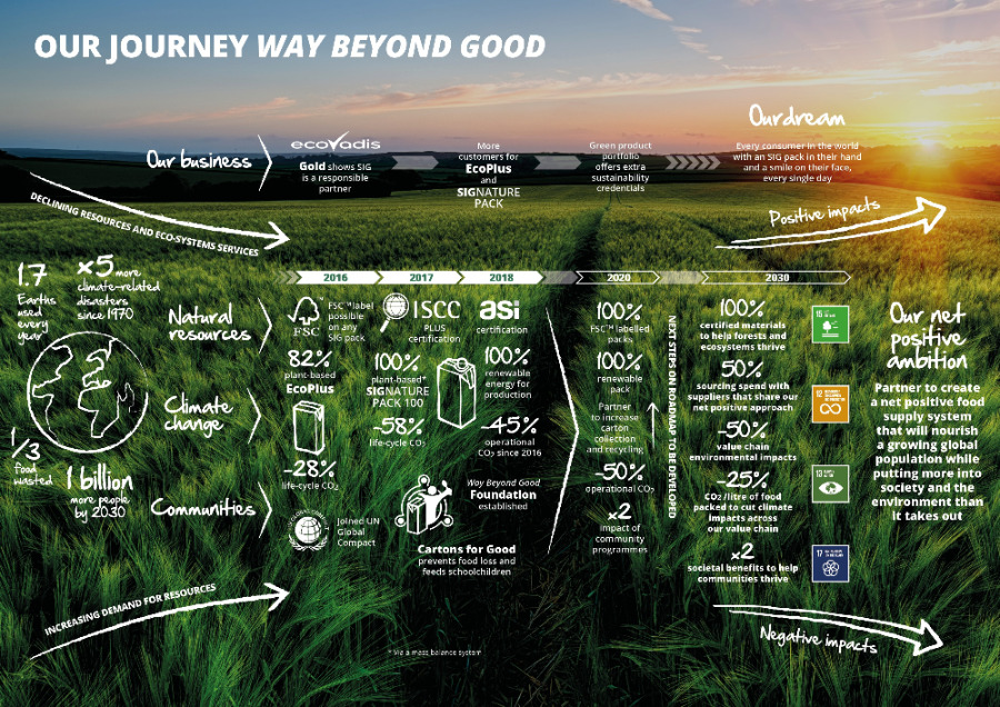 SIG infographic – Way Beyond Good journey 2018